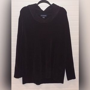 Jones New York Cowl Neck Black Rayon Sweater